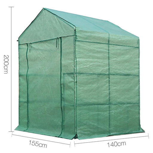Greenfingers Greenhouse Green House Tunnel 2mx1.55m Garden