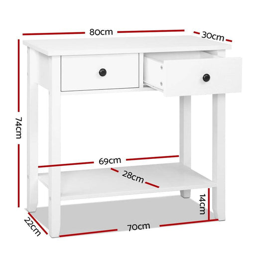 Hallway Console Table Hall side Entry 2 Drawers Display