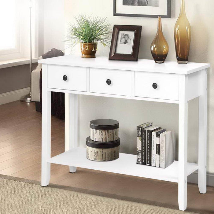Hallway Console Table Hall side Entry 3 Drawers Display