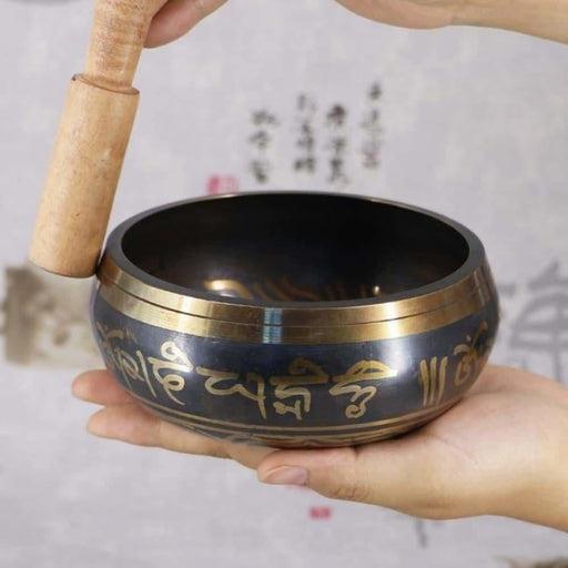 Handmade 3.15 Inch Tibetan Bell Metal Singing Bowl with Striker for Buddhism Buddhist Meditation & Healing Relaxation