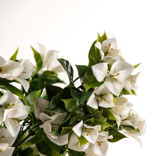 Hanging White Artificial Bougainvillea Plant UV Resistant