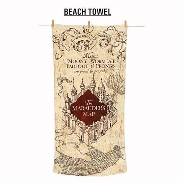 Harry Potter Maruaders Map Beach Towel goslash fast delivery fast delivery