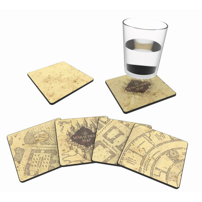 Harry Potter- MAURAUDERS MAPCOLD REVEAL COASTERS x 4 goslash fast delivery fast delivery