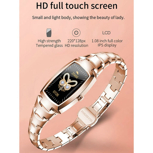2020 New Women Smart Watch Fashion women's watches Heart Rate Monitoring Call reminder Fitness Bracelet for Women Christmas Gift