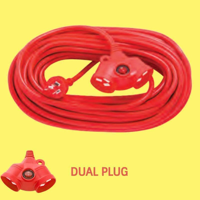 Heavy Duty 10Amp Dual plug Extension Cord | 20m/30m goslash fast delivery fast delivery