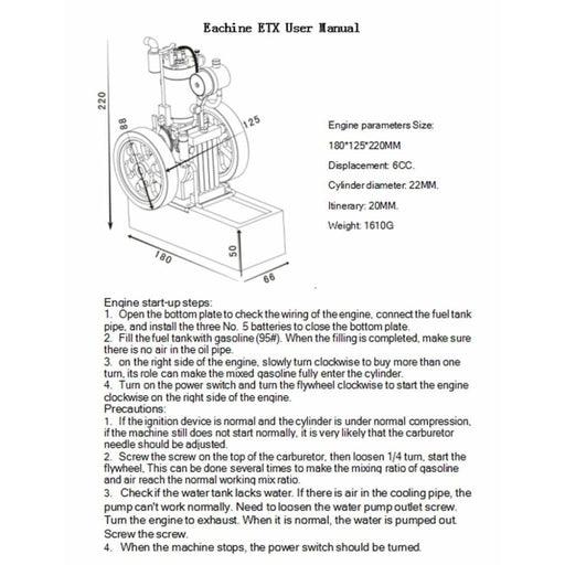 Hit & Miss Gas Vertical Engine Stirling Engine Model -