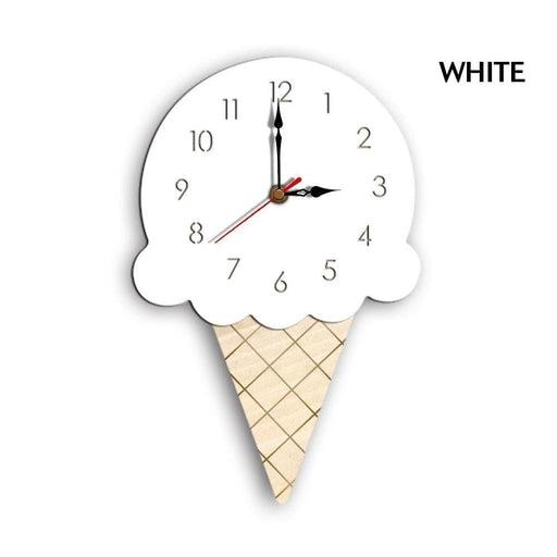 Home Cartoon Creative Wall Clock Living Room Acrylic Ice Cream Children's Clock