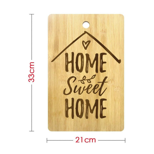 Home Sweet Home Custom Cutting Board Personalized Cheese Block Laser Engraved Charcuterie Board New Home Housewarming Party Gift (330x210mm)