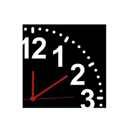 Infinity Quarter Wall Clock Modern Milimalist Wall Art Silent Non Ticking Wall Clock Home Decor Incomplete Clock Face Wall Watch
