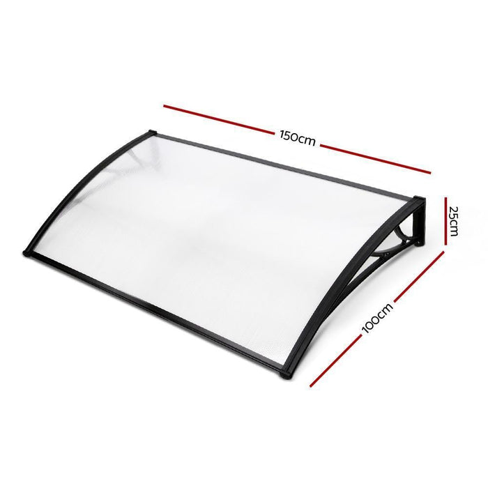 Instahut 1X1.5M Window Door Awning Canopy Rain Cover Sun Shield goslash fast delivery fast delivery