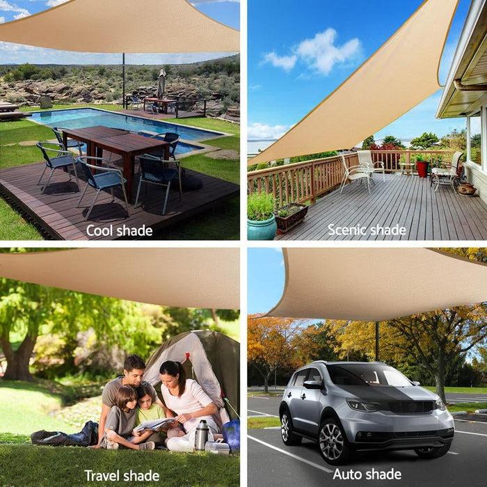 Instahut 280gsm 3x3m Sun Shade Sail Canopy Rectangle - Home