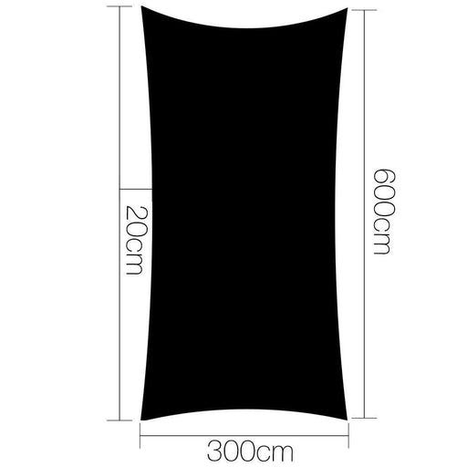 Instahut 280gsm 3x6m Sun Shade Sail Canopy Rectangle goslash fast delivery fast delivery