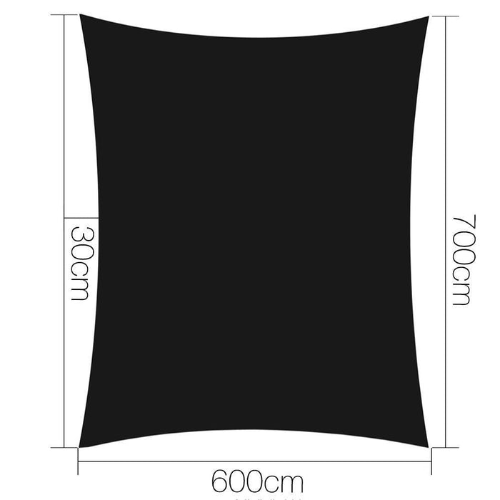 Instahut 280gsm 6x7m Sun Shade Sail Canopy Rectangle goslash fast delivery fast delivery