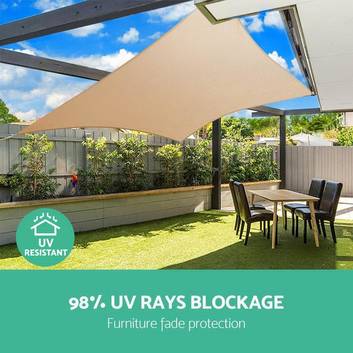 Instahut 6x7m280gsm Shade Sail Sun Shadecloth Canopy Square