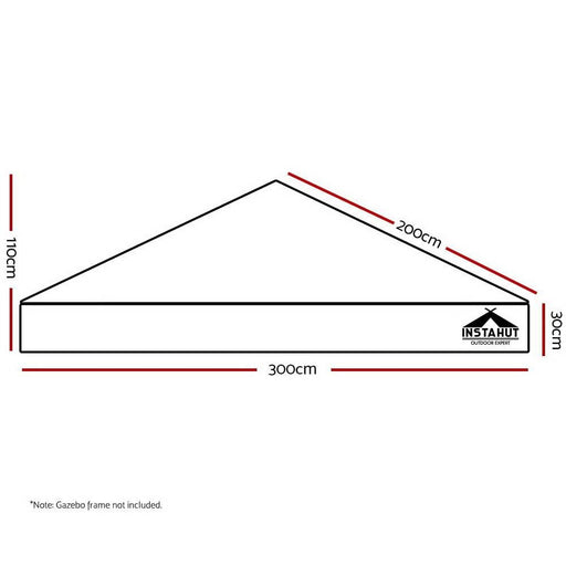 Instahut Gazebo 3x3m Pop up Marquee Replacement Roof Outdoor