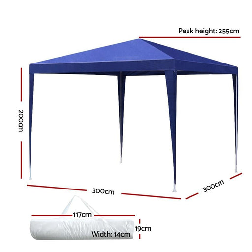 Instahut Gazebo 3x3m Tent Marquee Party Wedding Event Canopy