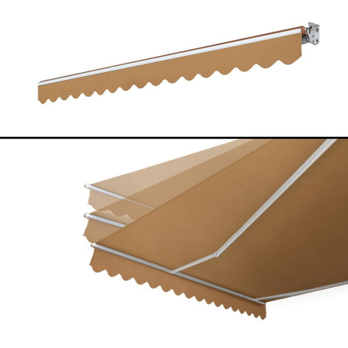 Instahut Motorised 4x2.5m Folding Arm Awning - Beige goslash fast delivery fast delivery