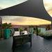 Instahut Sun Shade Sail Canopy Triangle 280gsm 5x5x5m Black