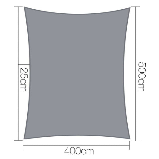 Instahut Sun Shade Sail Cloth Shadecloth Outdoor Canopy Rectangle 280gsm 4x5m goslash fast delivery fast delivery