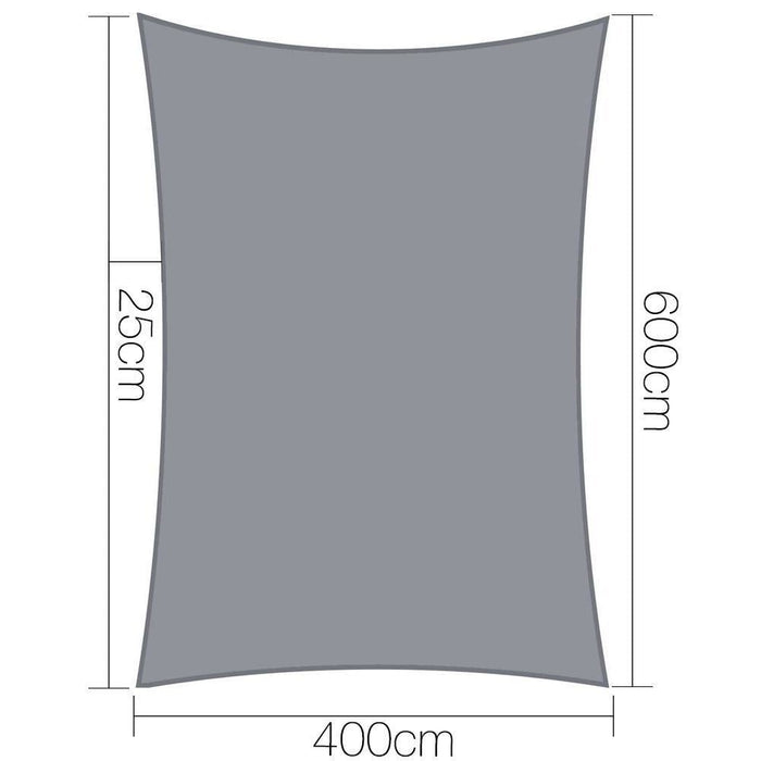 Instahut Sun Shade Sail Cloth Shadecloth Outdoor Canopy Rectangle 280gsm 4x6m goslash fast delivery fast delivery