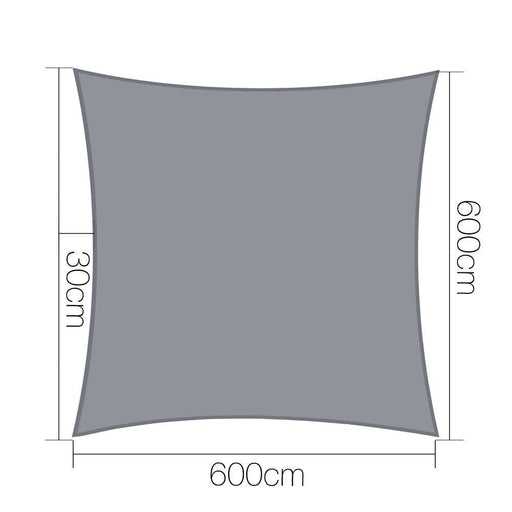 Instahut Sun Shade Sail Cloth Shadecloth Outdoor Canopy Rectangle 280gsm 6x6m goslash fast delivery fast delivery