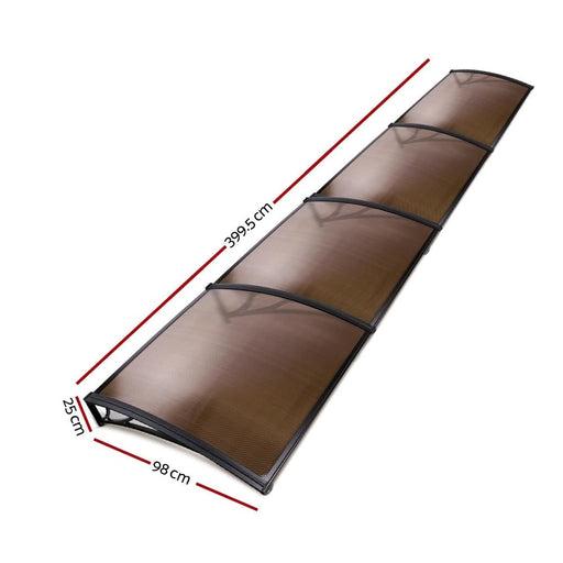 Instahut Window Door Awning Door Canopy Patio UV Sun Shield