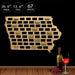 Iowa Wine Cork Map Midwestern United States Wine Cork Display  Home Decor Housewarming Gift  Iowa City Personalized Wall Art Map