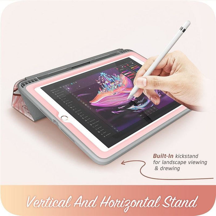 For Ipad 9.7 Case (2018/2017) Cosmo Trifold Stand Case with Auto Sleep/wake &