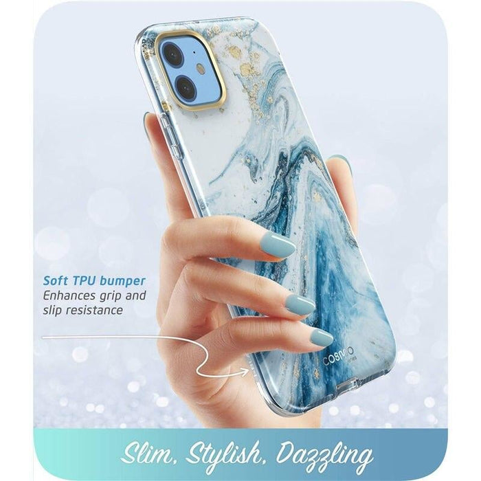For Iphone 11 Case 6.1 Inch (2019 Release) Cosmo Full-body Glitter Marble Bumper
