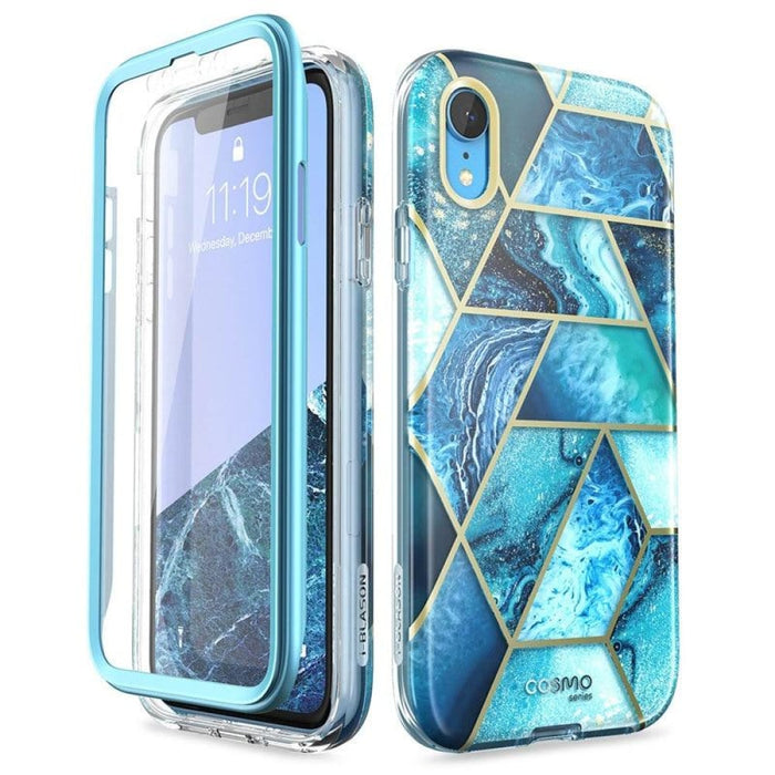 For Iphone Xr Case 6.1 Cosmo Series Full-body Glitter Marble