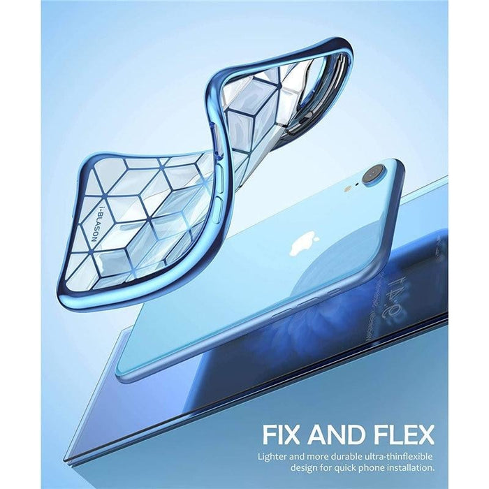 """For Iphone Xr Case 6.1"""" Cube Series Slim Crystal Clear Flexible Tpu Protective"""