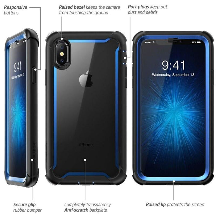 For Iphone X Xs Case 5.8 Inch Ares Series Full-body Rugged Clear Bumper Case