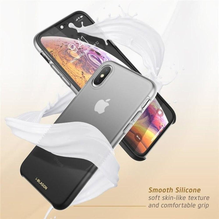 """I-BLASON For iPhone X Xs Case 5.8"""" OMG Series Slim Liquid Soft Rubber Protective Silicone Case For iPhone XS (2018) / X (2017)"""