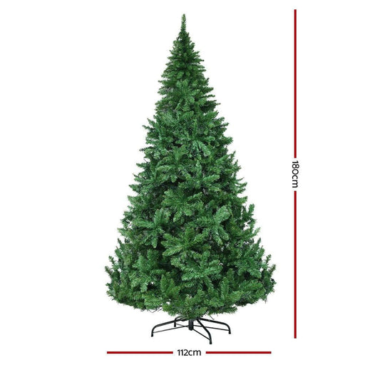 Jingle Jollys 1.8m 6ft Christmas Tree 874 Led Lights 874