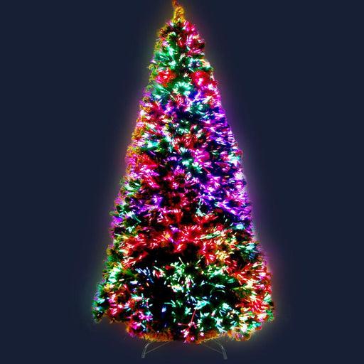 Jingle Jollys 1.8m 6ft Led Christmas Tree Optic Fiber Xmas