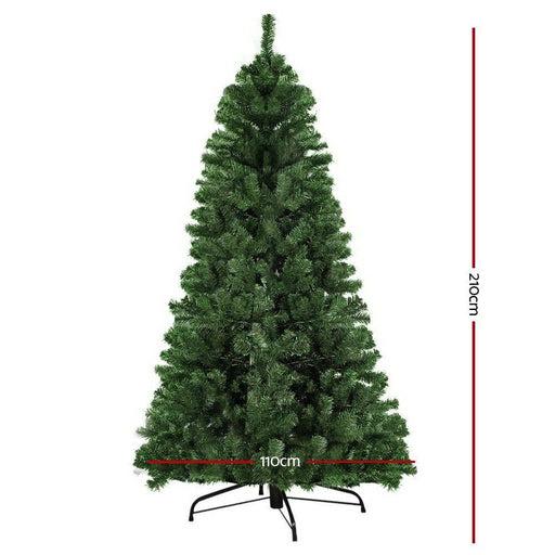 Jingle Jollys 2.1m 7ft Christmas Tree Xmas Decoration Home