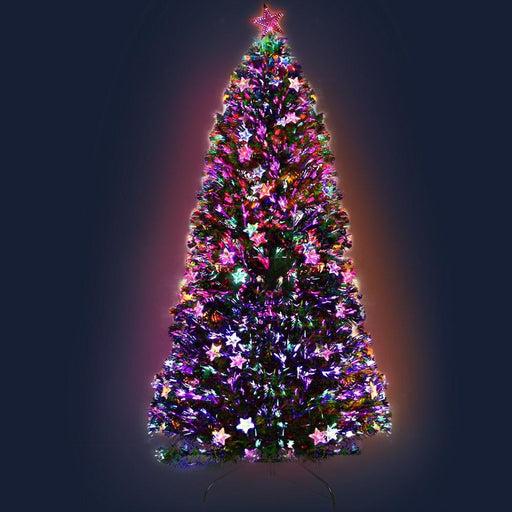 Jingle Jollys 2.1m 7ft Led Christmas Tree Xmas Optic Fiber