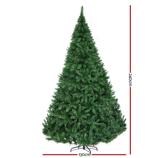 Jingle Jollys 2.4m 8ft Christmas Tree 1488 Led Lights 1488