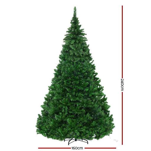 Jingle Jollys 2.4m 8ft Christmas Tree Xmas 3190 Led Lights