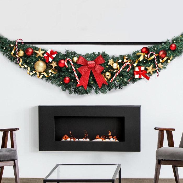Jingle Jollys 6ft Christmas Garland - Green - Occasions >