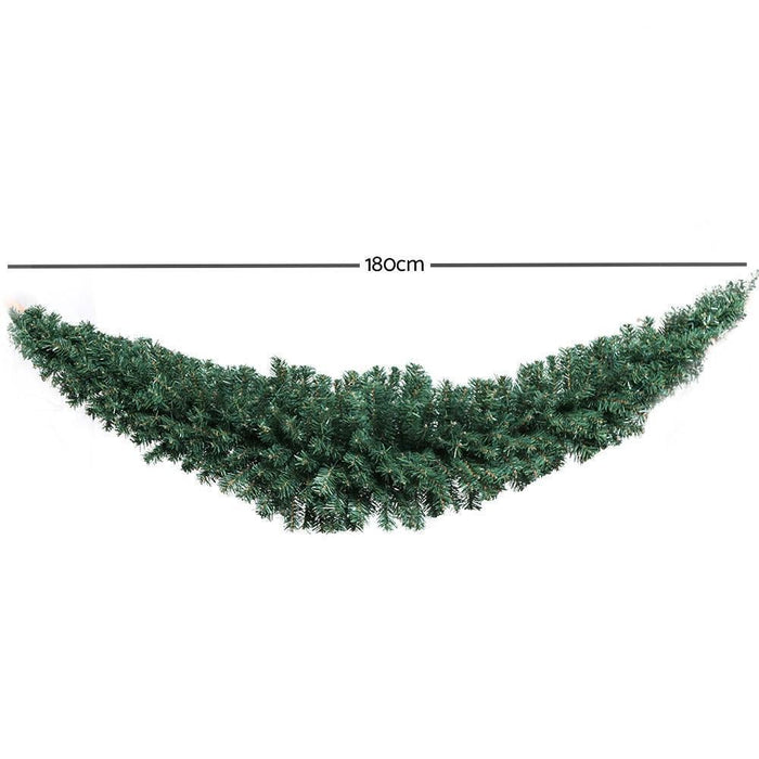 Jingle Jollys 6FT Christmas Garland - Green goslash fast delivery fast delivery