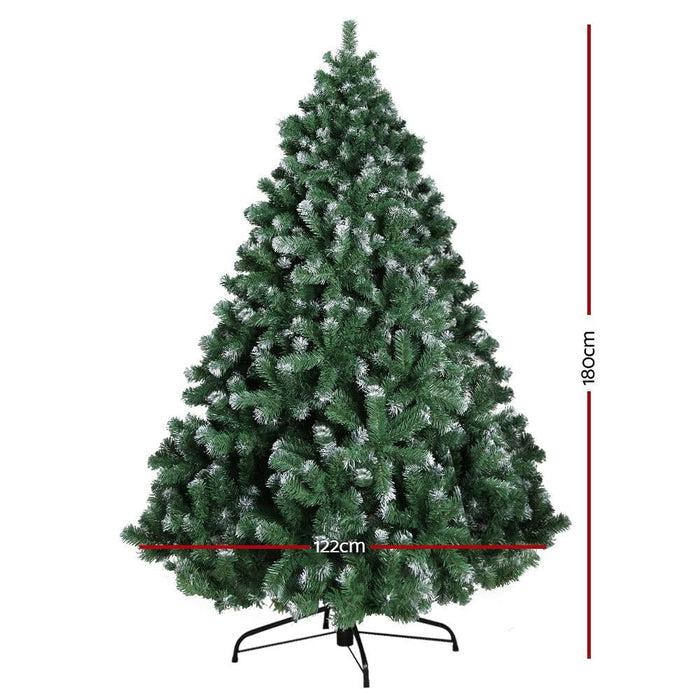 Jingle Jollys 6ft Christmas Snow Tree - Occasions >