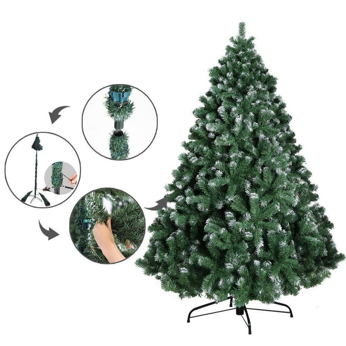 Jingle Jollys 6FT Christmas Snow Tree goslash fast delivery fast delivery