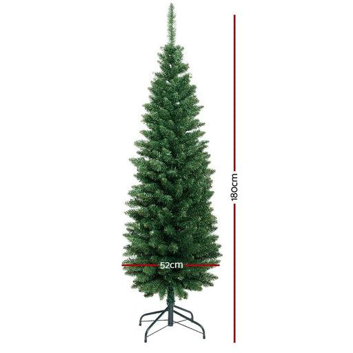 Jingle Jollys 6ft Slim Christmas Tree - Occasions >
