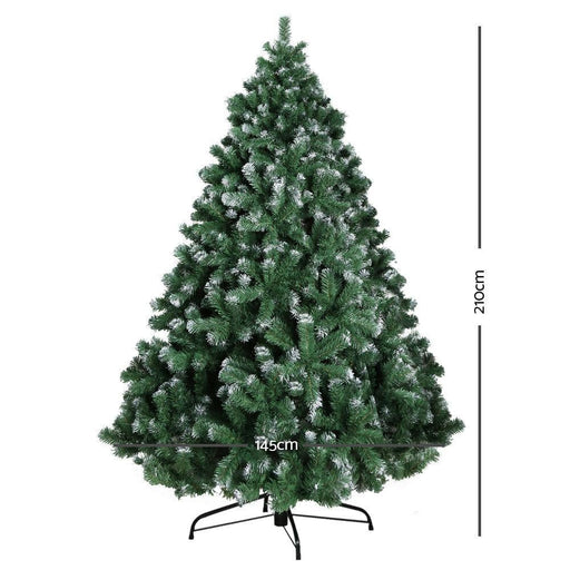 Jingle Jollys 7FT Christmas Snow Tree goslash fast delivery fast delivery