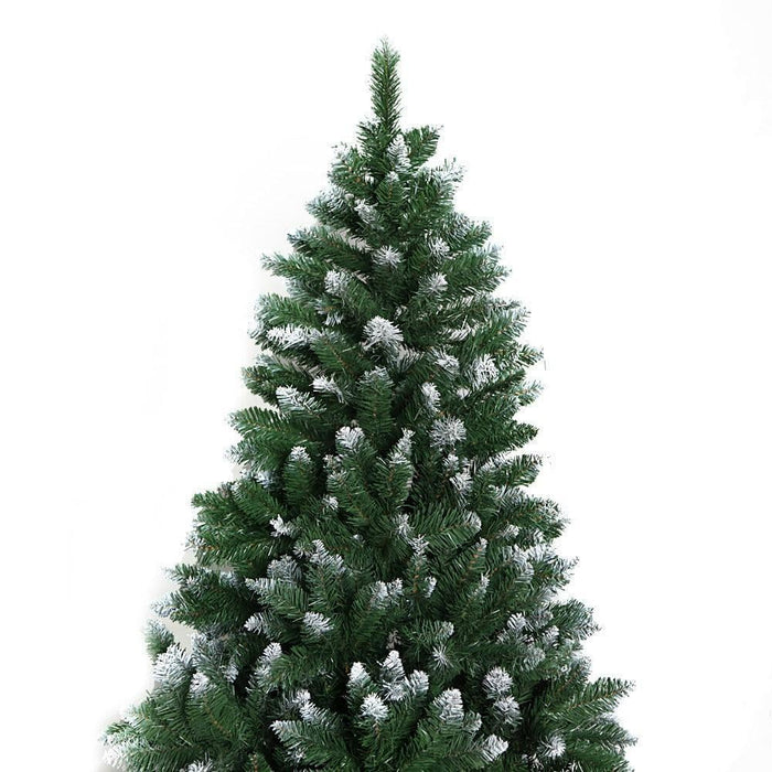 Jingle Jollys 7FT Christmas Snow Tree - Green goslash fast delivery fast delivery