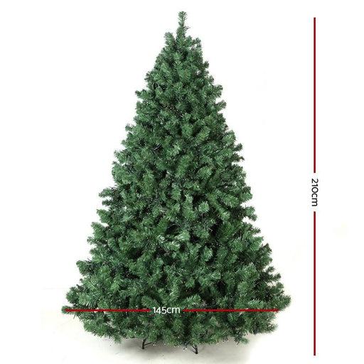 Jingle Jollys 7ft Christmas Tree with Led Lights - Warm