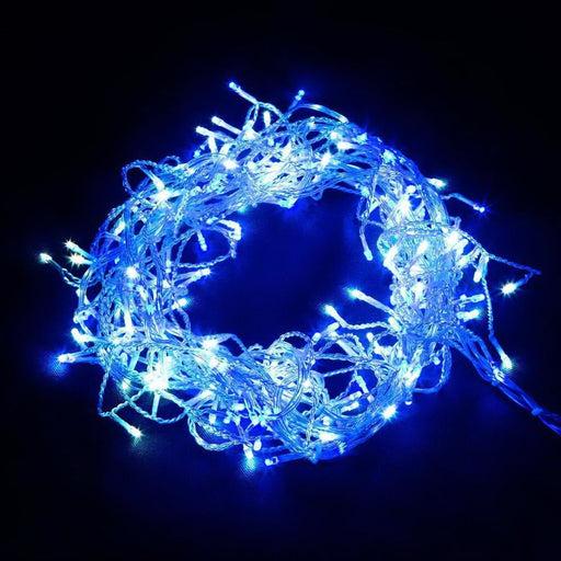 Jingle Jollys 800 Led Christmas Icicle Lights White and Blue