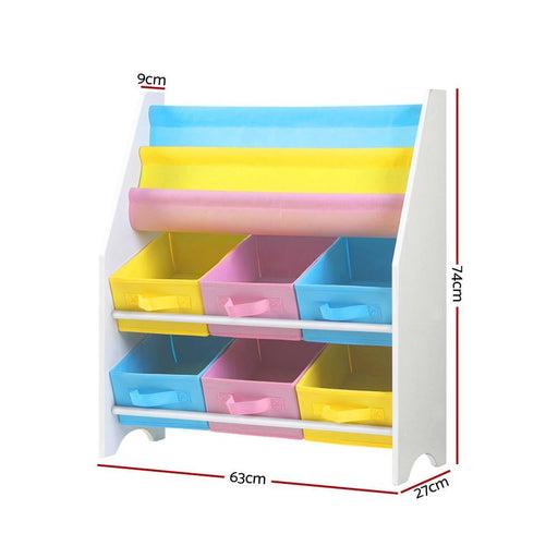 Keezi Kids Bookcase Childrens Bookshelf Toy Storage