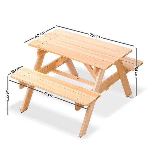 Keezi Kids Wooden Picnic Bench Set - Baby & Kids > Kids